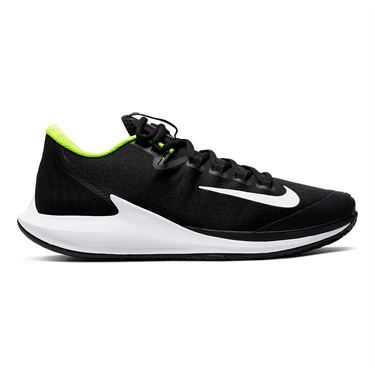 Nike Court Air Zoom Zero Mens Tennis Shoe Black/White/Volt AA8018 007