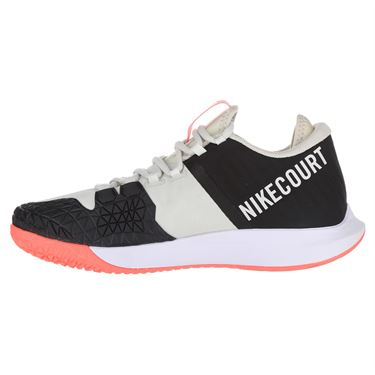 Nike Court Air Zoom Zero Mens Tennis Shoe - Light Bone/ Black/Hot Lava