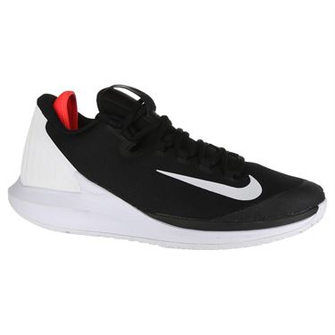 Nike Court Air Zoom Zero Mens Tennis Shoe - Black/White/Bright Crimson