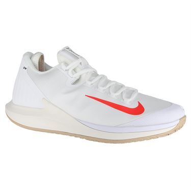 Nike Court Air Zoom Zero Womens Tennis Shoe - White/Bright Crimson/Phantom/Black