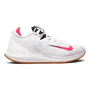Nike Court Air Zoom Zero Mens Tennis Shoe White/Laser Crimson/Gridiron/Wheat AA8018 101