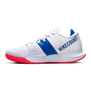 Nike Court Air Zoom Zero Mens Tennis Shoe White/Game Royal/Flash Crimson AA8018 103