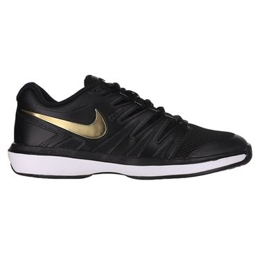 Nike Air Zoom Prestige Mens Tennis Shoe Black/Metallic Gold/White AA8020 012