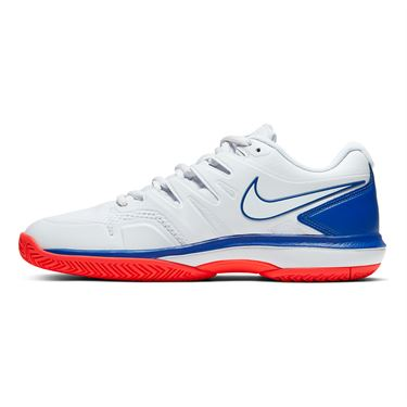 Nike Air Zoom Prestige Mens Tennis Shoe - White/Game Royal/Flash Crimson
