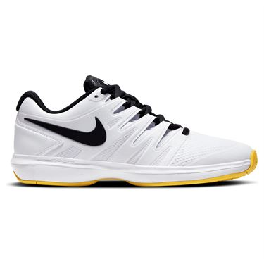 Nike Air Zoom Prestige Mens Tennis Shoe White/Black/Speed Yellow AA8020 104