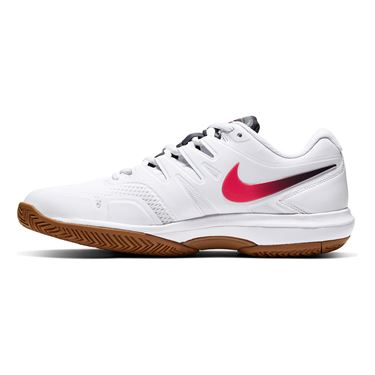 Nike Air Zoom Prestige Mens Tennis Shoe White/Laser Crimson/Gridiron/Wheat AA8020 105