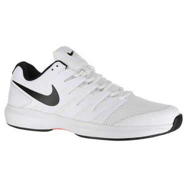 Nike Air Zoom Prestige Mens Tennis Shoe - White/Black/Bright Crimson