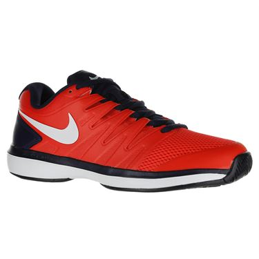 Nike Air Zoom Prestige Mens Tennis Shoe - Bright Crimson/White/Blackened Blue
