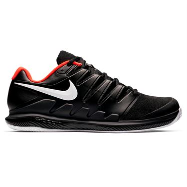 Nike Air Zoom Vapor X Clay Mens Tennis Shoe - Black/White/Bright Crimson
