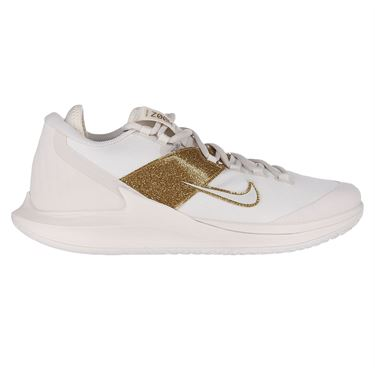 Nike Court Air Zoom Zero Womens Tennis Shoe Phantom/Metallic Gold AA8022 003