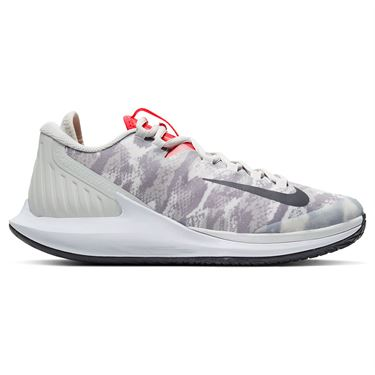 Nike Court Air Zoom Zero Womens Tennis Shoe Platinum Tint/Thunder Grey/Laser Crimson AA8022 004