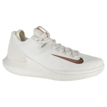 Nike Court Air Zoom Zero Womens Tennis Shoe - Phantom/Metallic Rose Gold