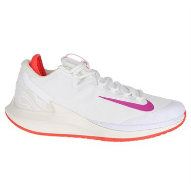 outlet store 5fcb3 36a2d Nike Court Air Zoom Zero Womens Tennis Shoe - White Active Fuchsia Phantom  ...