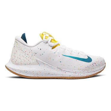 Nike Court Air Zoom Zero Womens Tennis Shoe White/Valerian Blue/Oracle Aqua AA8022 107