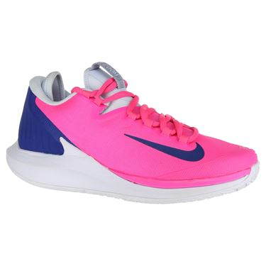 Nike Court Air Zoom Zero Womens Tennis Shoe - Pink Blast/Indigo Force/Half Blue/White