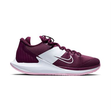 Nike Court Air Zoom Zero Womens Tennis Shoe Bordeaux/Pink Rise/White AA8022 603