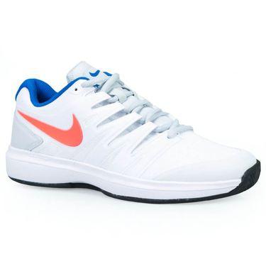 5e4ef2ebe6b Nike Air Zoom Prestige Clay Womens Tennis Shoe - White Hot Lava Pure  Platinum ...