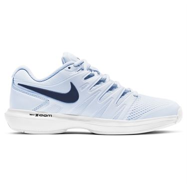 Nike Court Air Zoom Prestige Womens Tennis Shoe Football Grey/Midnight Navy/White AA8024 001