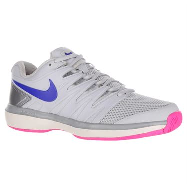 Nike Air Zoom Prestige Womens Tennis Shoe - Pure Platinum/Racer Blue/Metallic Platinum