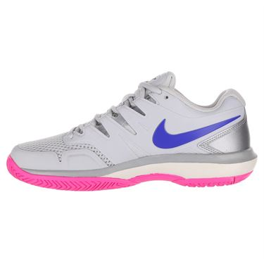 Nike Air Zoom Prestige Womens Tennis Shoe - Pure Platinum/Racer Blue/Metallic Platinum