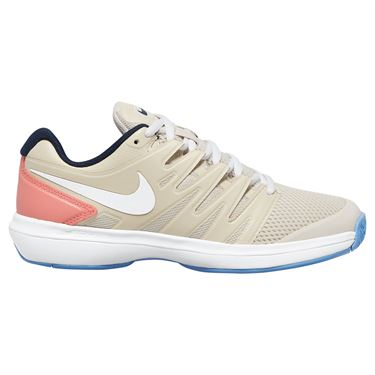 Nike Air Zoom Prestige Womens Tennis Shoe Light Orewood Brown/White/Sunblush AA8024 100