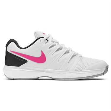 Nike Court Air Zoom Prestige Womens Tennis Shoe White/Laser Fuchsia/Light Smoke Grey/Black AA8024 102