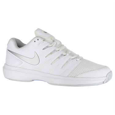 Nike Air Zoom Prestige Womens Tennis Shoe - White/Metallic Silver/Pure Platinum