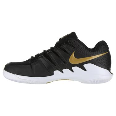 Nike Air Zoom Vapor X Womens Tennis Shoe - Black/Metallic Gold/White