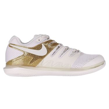 Nike Air Zoom Vapor X Womens Tennis Shoe Phantom/Metallic Gold AA8027 007