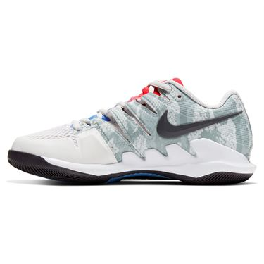 Nike Court Air Zoom Vapor X Womens Tennis Shoe Platinum Tint/Thunder Grey/Laser Crimson AA8027 009