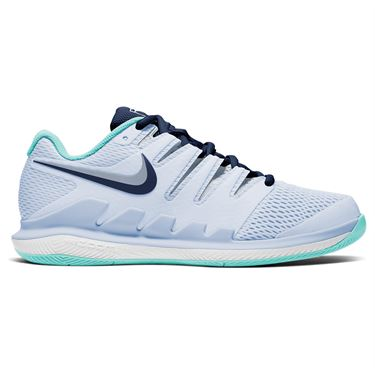 Nike Court Air Zoom Vapor X Womens Tennis Shoe Football Grey/Midnight Blue AA8027 010