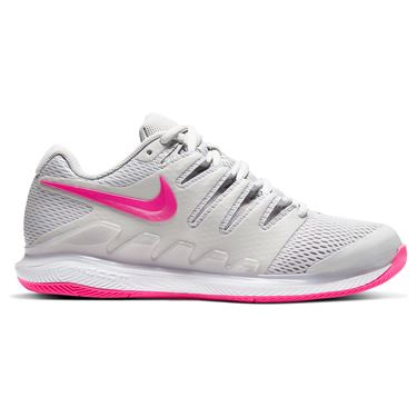 Nike Court Air Zoom Vapor X Womens Tennis Shoe Grey Fog/Pink Blast/White AA8027 011