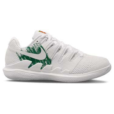 Nike Court Air Zoom Vapor X Womens Tennis Shoe White/Clover/Gorge Green AA8027 111