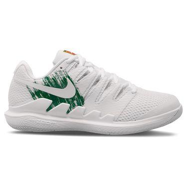 Nike Court Air Zoom Vapor X Womens Tennis Shoe White/Clover/Gorge Green AA8027 111