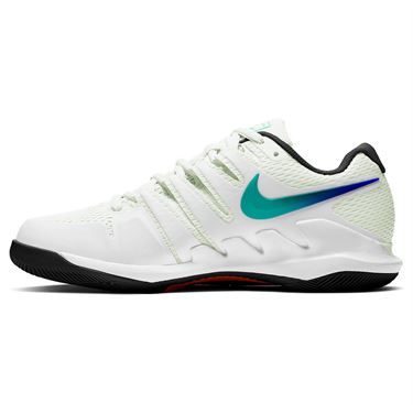 Nike Court Air Zoom Vapor X Womens Tennis Shoe Summit White/Black/Electro Green AA8027 112