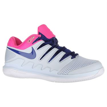Nike Air Zoom Vapor X Womens Tennis Shoe - Half Blue/Indigo Force/Pink Blast/White