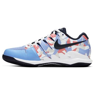 Nike Court Air Zoom Vapor X Womens Tennis Shoe Royal Pulse/Obsidian/White/Sunblush AA8027 406