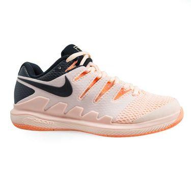 Nike Air Zoom Vapor X Womens Tennis Shoe - Crimson Tint/Black/Orange