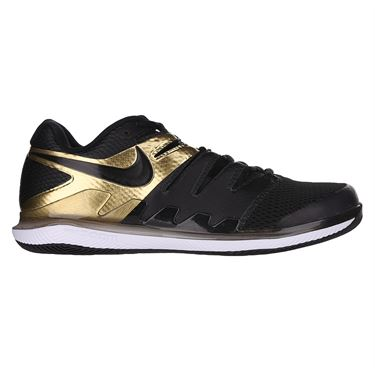 Nike Air Zoom Vapor X Mens Tennis Shoe Black/Metallic Gold/White AA8030 008