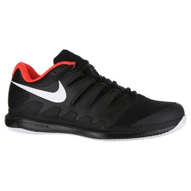 Nike Air Zoom Vapor X Mens Tennis Shoe - Black/White/Bright Crimson