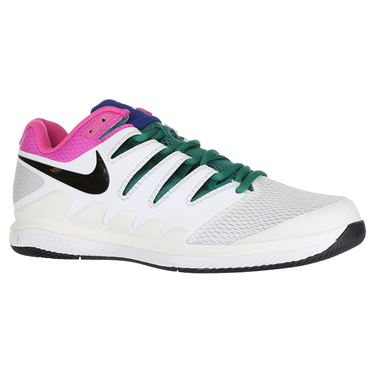 Nike Air Zoom Vapor X Mens Tennis Shoe - White/Black/Platinum Tint/Laser Fuchsia