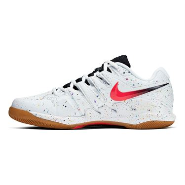 Nike Air Zoom Vapor X Mens Tennis Shoe White/Laser Crimson/Oracle Aqua/Off Noir AA8030 108