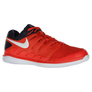 Nike Air Zoom Vapor X Mens Tennis Shoe - Bright Crimson/White/Blackened Blue