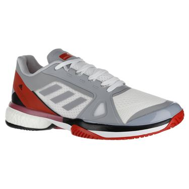 adidas ASMC Barricade Boost Womens Tennis Shoe - Grey/Red
