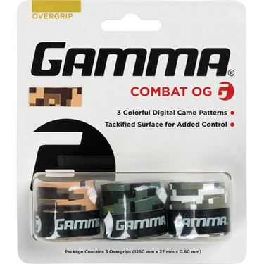 Gamma Combat 3 Pack Overgrip (Assorted)