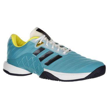 adidas Barricade 2018 Mens Tennis Shoe - Aqua/Ink/Yellow