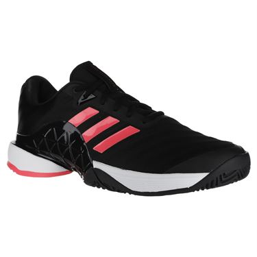 adidas Barricade 2018 Mens Tennis Shoe - Black/Flash Red
