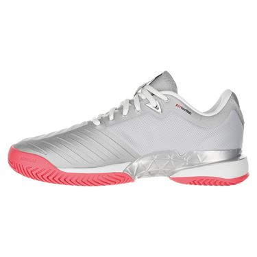 best service 7d3ee 9d6a6 ... adidas Barricade 2018 Womens Tennis Shoe - Matte Silver White Flash Red