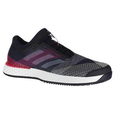 adidas adiZero Ubersonic 3 Clay Mens Tennis Shoe - Ink/White/Pink