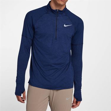 Nike Element 1/2 Zip Pullover - Obsidian/Blue Void Heather